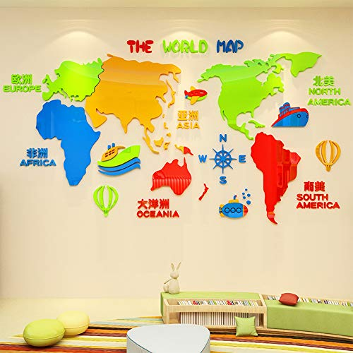 Amazon.com: Wall Stickers for Bedroom,Kindergarten Wall Decoration on kindergarten map of africa, kindergarten map of ireland, kindergarten map of the world, kindergarten map of asia, kindergarten map of mexico,