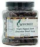 Triple Dipped Dark Chocolate Brazil Nuts - 1.5 Lb Tub