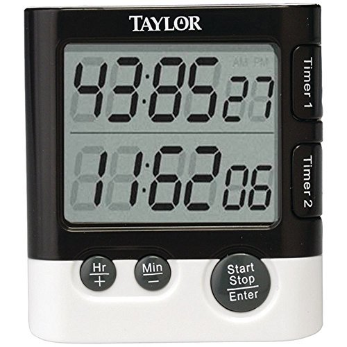 1 - Dual Event Digital Timer/Clock, 1.5 LCD readout, Times 2 events simultaneously, 5828 by Taylor