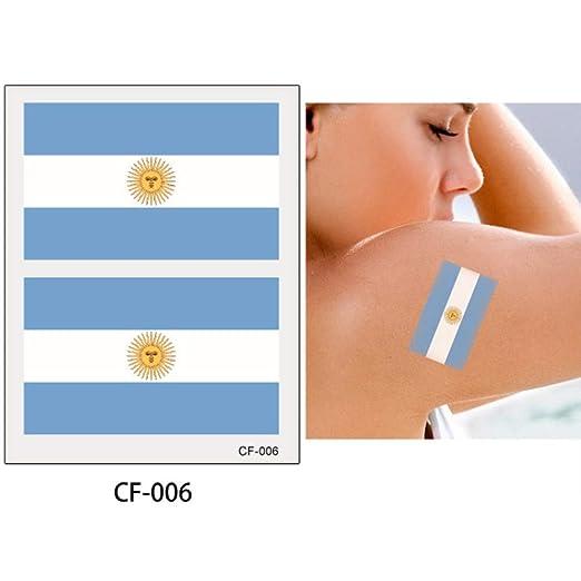 adgkitb 10 Piezas Etiqueta engomada del Tatuaje de la Bandera ...