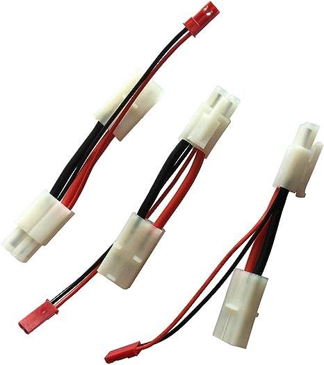 5  Deans T Plug al Cable de Conexi/ón de Conector de JST para Bater/ía de Lipo de Avi/ón de Barco de Coche de RC