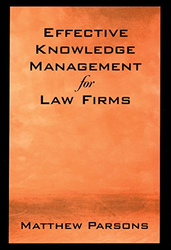 Download Effective Knowledge Management for Law Firms Pdf