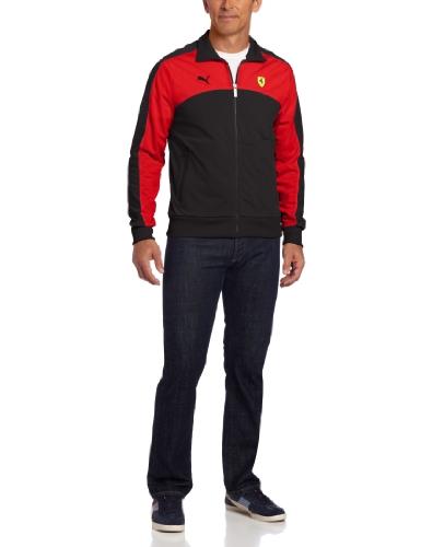 PUMA Men's Ferrari Track Jacket, Black Small