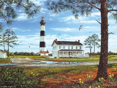 Lighthouse Bodie - Heritage Puzzle Bodie Island Lighthouse Jigsaw Puzzle (550-Piece)