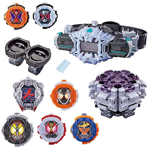 Kamen Rider Zi-o Transform Belt DX Ziku Driver & DX Ride Watch 6 Types & DX Ride Watch Holder & DX Taka Watch Roid & DX Ride Watch Dizer & Cleaning Cloth All Set of 11 Lucky Bag
