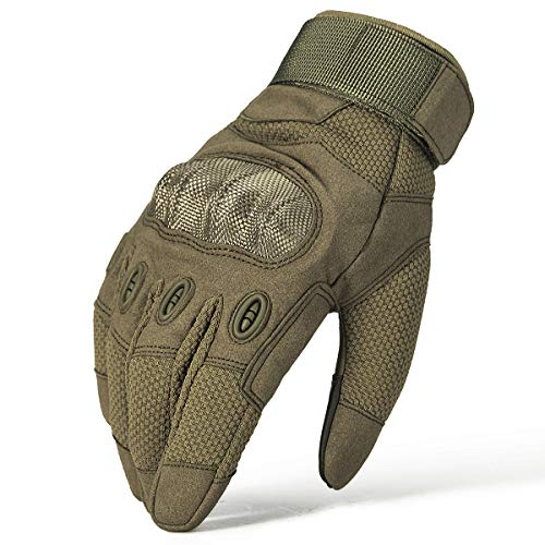(ReFire Gear Winter Breathable Flexible Touch Screen Sport Military Combat Tactical Gloves for Work Airsoft Hunting Shooting Riding (Army Green-2,)