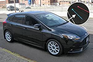 Rally Armor 2012+ Ford Focus, ST, RS Mud Flaps Light Blue Logo