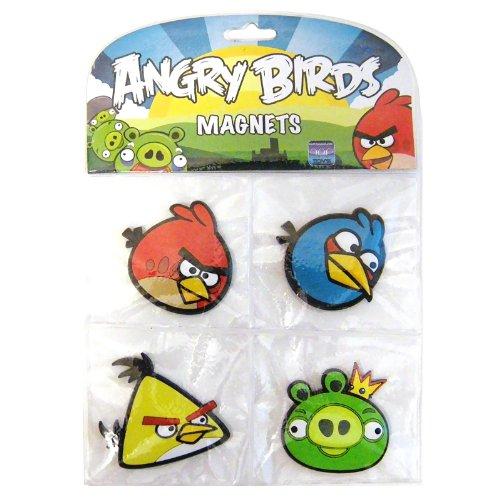Angry Birds Magnet Set, 4 Pack (Bird Magnet Set)