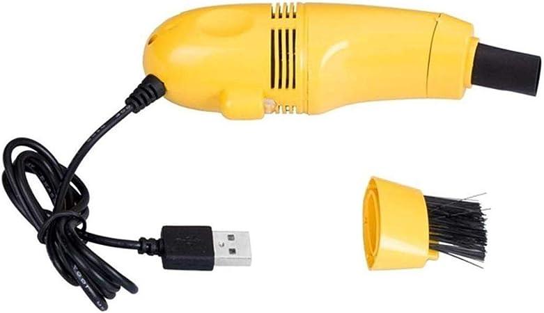 Aspirador De Teclado Inalámbrico, Limpiador De Teclado USB con Removedor De Teclas Y Cepillo, Mini Juego De Limpieza De Polvo Limpia El Espacio para El Teclado (Amarillo): Amazon.es: Hogar