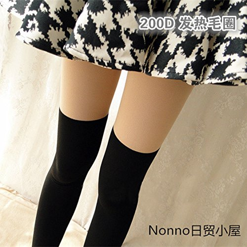 2018 counter genuine new winter thick wool fake knee coil splicing sexy fashion woman with pants bottoming socks
