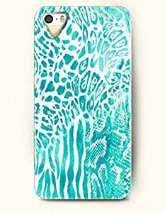 THYde Turquoise Cheetah Print -- OOFIT Case for Apple iPhone 4/4s Case - Animal Print ending