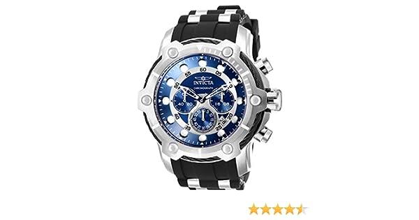 0e00f1ae9 Amazon.com: Invicta Men's Bolt Stainless Steel Quartz Polyurethane Strap,  Black, 30 Casual Watch (Model: 26750: Watches