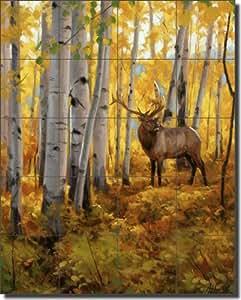 Elk Wildlife Ceramic Tile Mural 24 Quot X 30 Quot Fall Splendor