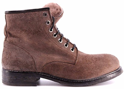 Chaussures Homme Bottes MOMA 59501M1D Harley Topo Chamois Gris Fourrure Italy