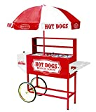 hot dog vendor tray - Nostalgia HDC701 48-Inch Hot Dog Vending Cart