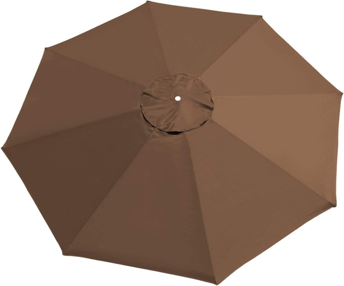 BenefitUSA UC-12 Canopy 10ft 8 Rib Patio Replacement Top Outdoor (Brown) Umbrella Cover