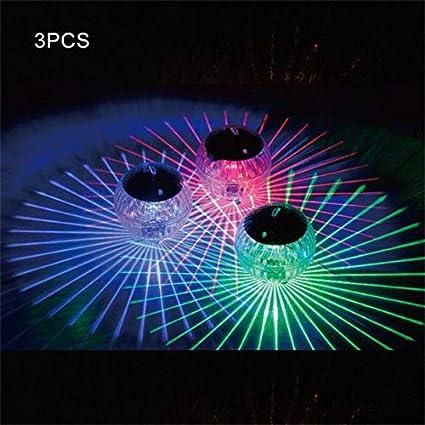 LED-Farbwechsel-Solargarten-Pool-Licht-h/ängendes Ball-Licht f/ür Garten-Yard-Swimmingpool-Brunnen-Aquarium 3Pcs colour changing Harddo Schwimmendes Teich-Solarlicht