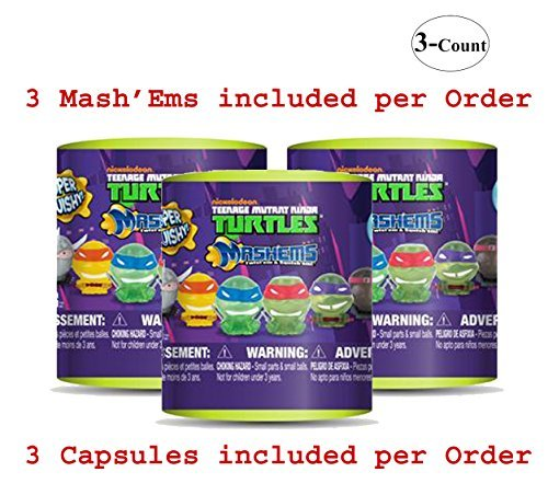 Teenage Mutant Ninja Turtles Mash-Em Series (Colors May Vary) (3-Pack)