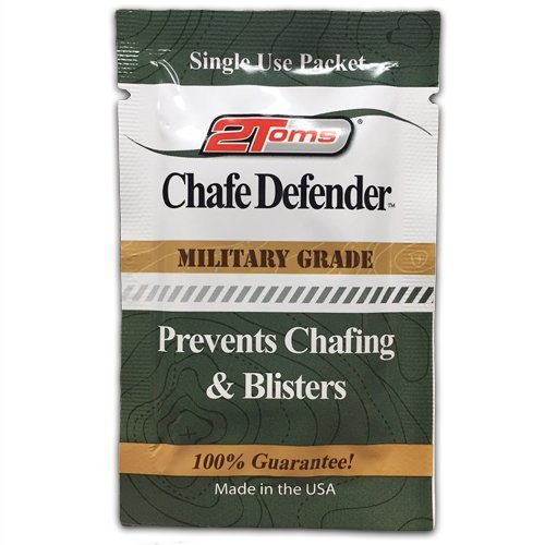 (2Toms Chafe Defender (Towelettes) - Military Grade 24 Hour Chafing & Blister Protection - Waterproof & Sweatproof (10 Count - Towelettes))