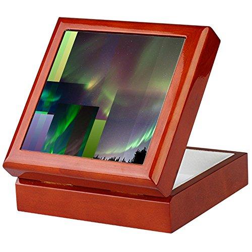 CafePress - Aurora Borealis - Keepsake Box, Finished Hardwood Jewelry Box, Velvet Lined Memento Box