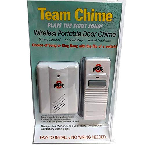 Real Time Marketing Ohio State Buckeyes Wireless White Casing Plays The Fight Song Door Bell