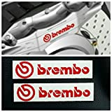Brembo Brake Caliper Decals HIGH TEMP Sticker Set of 2 (Red)