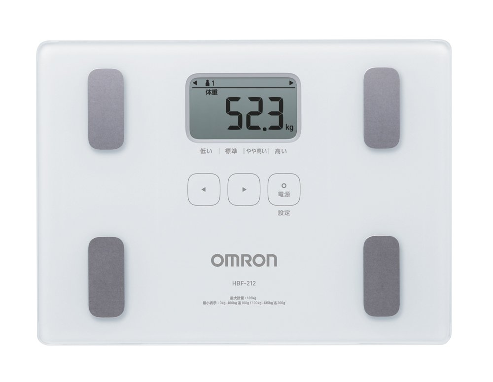 Omron KARADA Scan Body Composition & Scale   HBF-212 White (Japanese Import) by Omron