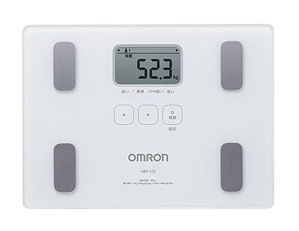 OMRON HBF-212 - Báscula de baño (Báscula personal electrónica, 135 kg,