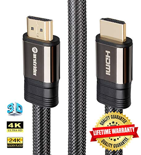 - 4K HDMI Cable/HDMI Cord 30ft - Ultra HD 4K Ready HDMI 2.0 (4K@60Hz 4:4:4) - High Speed 18Gbps - 26AWG Braided Cord-Ethernet /3D / ARC/CEC/HDCP 2.2 / CL3 - Xbox PS4 PC HDTV by Farstrider