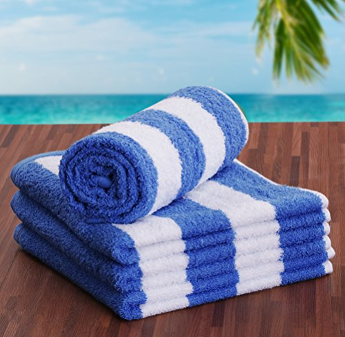 Utopia Towels Cotton Large Hand Towel Set (4 Pack, Stripe Blue - 16 x 28 Inches) - Multipurpose Bathroom Towels for Hand, Face, Gym and Spa by Utopia Towels (Image #4)