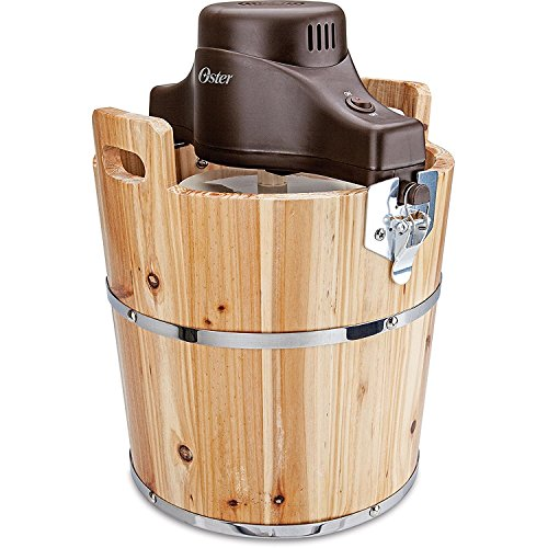 Oster 4-Quart Wood Bucket Ice Cream Maker ()