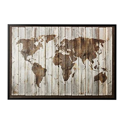 Amazon.com: IKEA Picture and frame, driftwood map, black ...