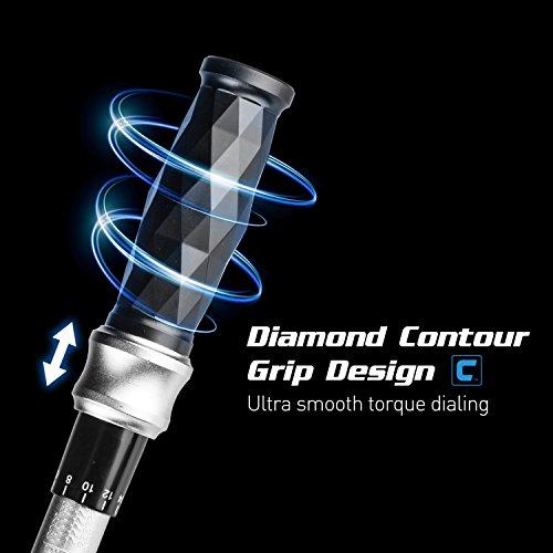 Capri Tools 3/8-in. Dr. Torque Wrench, 10-80 ft-lbs, Diamond Contour Ergonomic Grip by Capri Tools (Image #2)