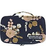 EMME Petite Cosmetics and Toiletries Travel Bag (Navy/Peach)