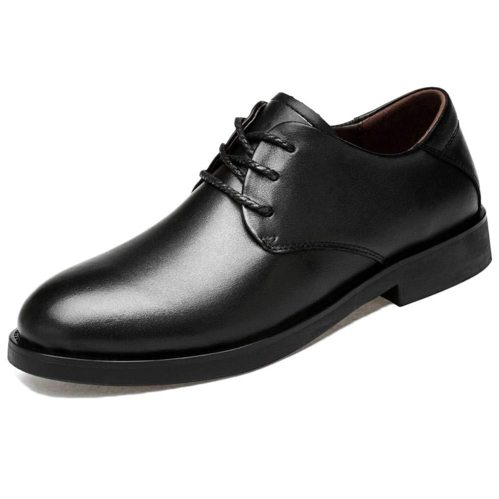 Snfgoij Herren Kleid Schuhe Braun Formale Geschäft Spitz Brogues Schnürung Herbst Winter Retro-Mode Mode Kurze Stiefel Low-Cut