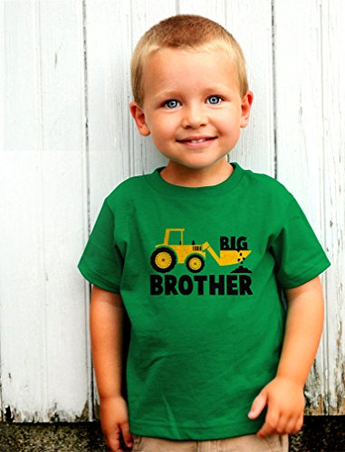 Big Brother Little Brother Shirts Gift for Tractor Loving Boys Siblings Set Baby Green/Kids Green Baby Newborn/Kids 3T
