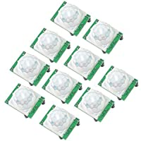 IEIK 10pcs HC-SR501 Pyroelectric Infrared PIR Motion Sensor Modules For Microcontrollers