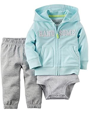 Carter's 2 Piece Cardigan Set, Handsome, 18 Months