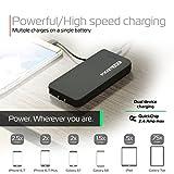 Black Mini Portable Charger - 8,000mAh External