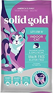 Solid Gold - Let's Stay In - Grain-Free - Indoor Formula Dry Cat Food with Superfoods - Hairball Control - Pro