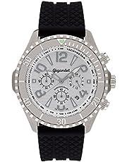 Gigandet Herren Uhr Chronograph Quarz mit Silikon Armband G23-001