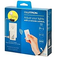 Caseta Wireless 300-Watt/100-Watt Plug-In Lamp Dimmer with Pico Remote Control Kit - White by Lutron