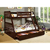 247SHOPATHOME Idf-BK605EX-TR452 Bunk-Beds, Full, Walnut