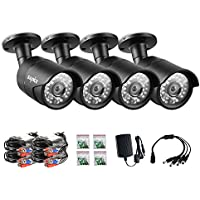 ANNKE 2.0MP HD-AHD 1080P Security Camera (4) 1920tvl Indoor/Outdoor Fixed Weatherproof Cameras with Camera Cables Included