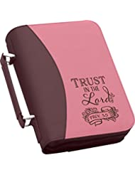 Trust in the Lord Large 11 x 8 Purple and Pink Faux Leather Cover Case