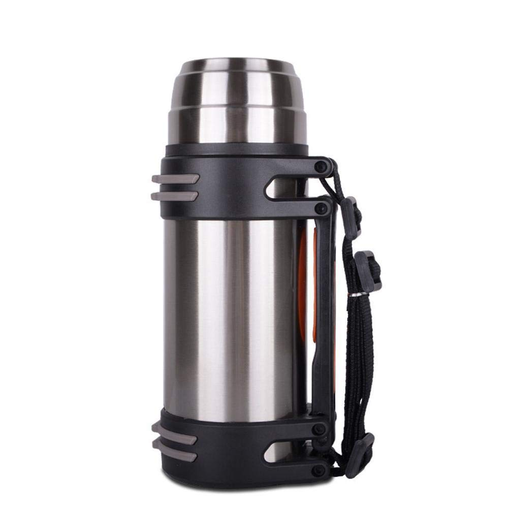 Yarmy Portable Edelstahl Becher Outdoor Sport-Flasche Reisen Größe: 29,5  5,8 cm 34  6 cm