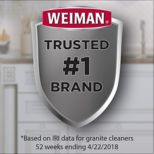Weiman Granite Wipes - Clean, Brighten, and Protects Solid Sealed Stone Surfaces - 30 Count (2 Pack)