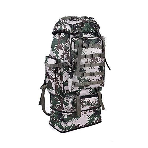 07 Digital  MJKAR Sac à Dos De Randonnée 100L sac à dos Camping sac sac à dos Hommes grand Hiking voyage de plein air Sport sacs Sack