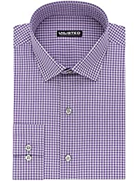 Kenneth Cole Unlisted Men's Slim Fit Check Spread Collar Dress Shirt