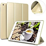 9.7 iPad case for 2017/2018,Ultra Slim Lightweight Smart Case Soft Silicone Cover Stand with Auto Sleep/Wake for iPad 9.7 inch iPad 5th/6th Generation(A1822/A1823/A1893/A1954)-gold